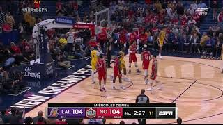 Final Minutes, Los Angeles Lakers vs New Orleans Pelicans, 11/27/19 | Smart Highlights