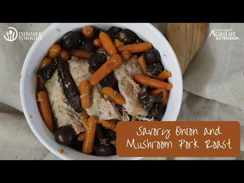 Savory Onion & Mushroom Pork Roast