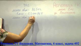 Виленкин, Математика, 6 класс, задача 492