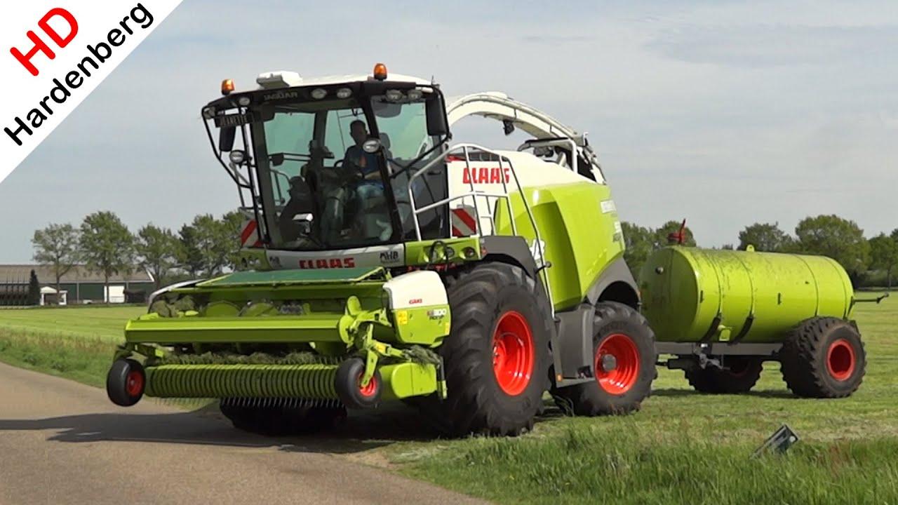 Grass silage Gras hakselen Claas Jaguar 950 Berkhof Scherpenzeel Netherlands 2015