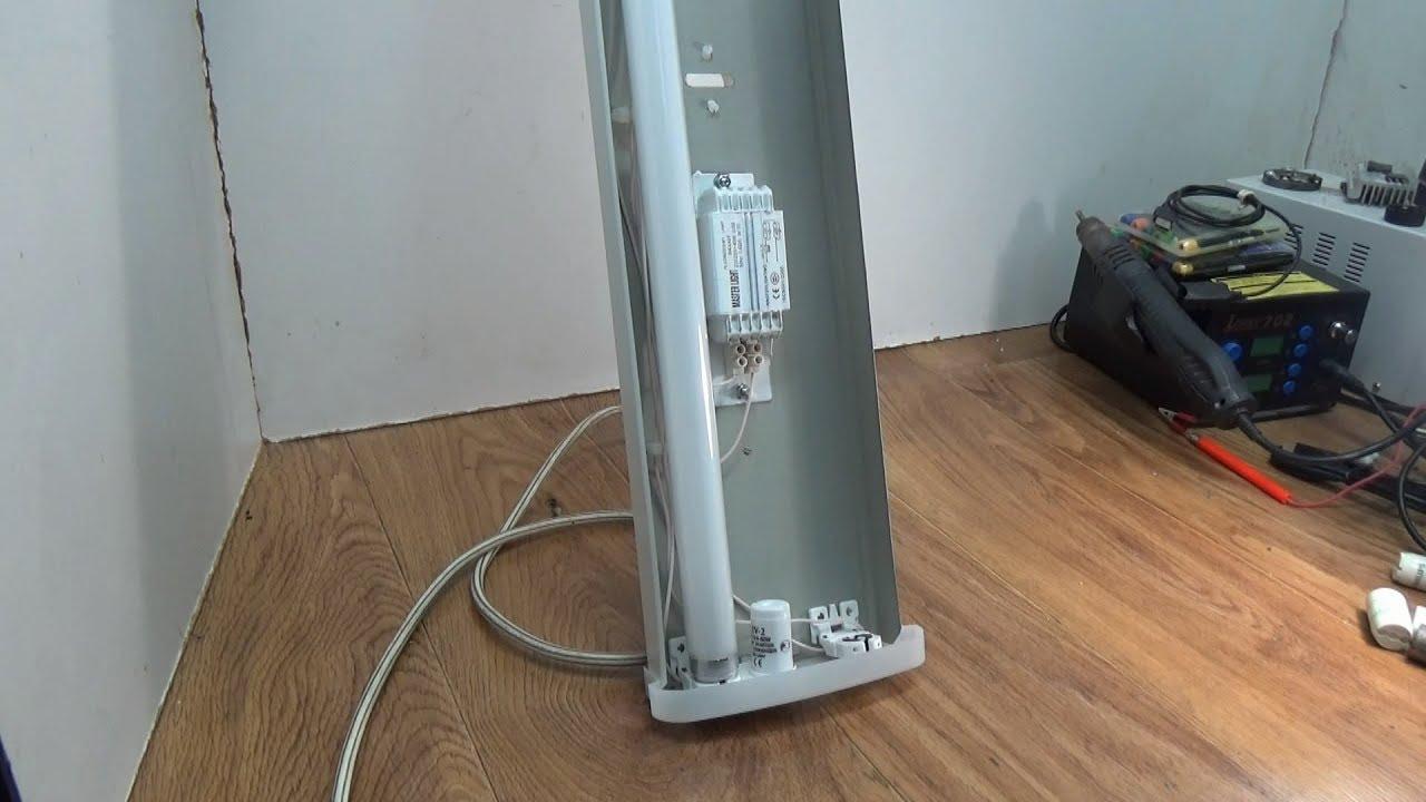 Подключение лампы дневного света
