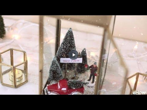 DIY Holiday Scene in a Lantern