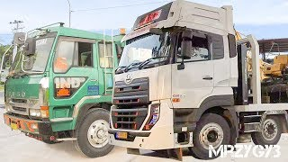 Gambar cover Cool!! Digger Moved By Self Loader Truck Action Compilation