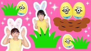 ★ミッション!30個のミニオンエッグを探せ~!in イースタールーム★30 Minion eggs★