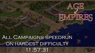 [Part 1] Age of Empires — All Campaigns (hardest) speedrun in 11:57:31