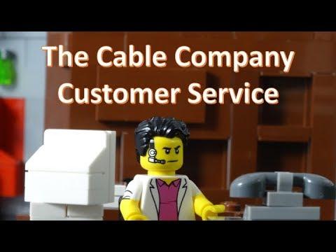 Cable Company Customer Service - A LEGO Brick Film - YouTube