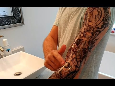 My Experience With A Full Sheet Temporary Arm Tattoo for Men