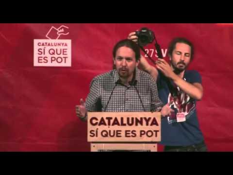 Pablo Iglesias, a Nou Barris