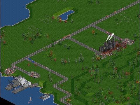 OpenTTD Gameplay FIRS 3.0.3 #1 - A little training. Temperate basic economic