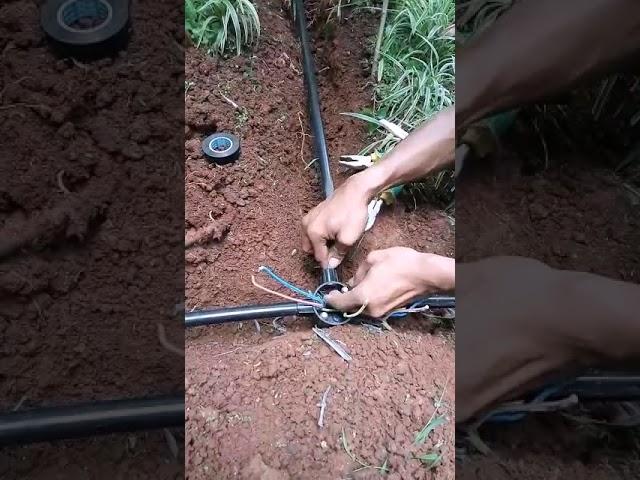 Pengonekan Kabel Didalam Tanah Kabel Lampu Taman Youtube