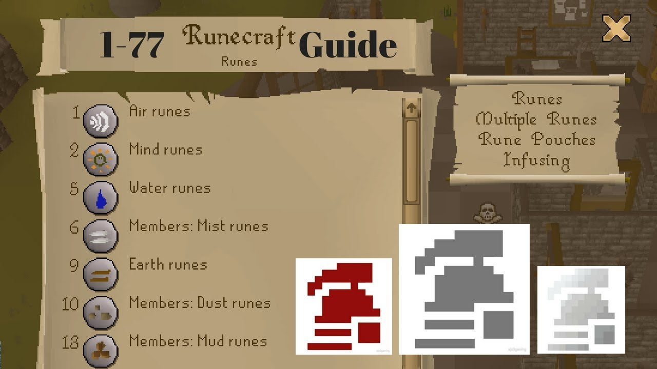 1-77 Runecrafting Guide for Ironman Old School Runescape