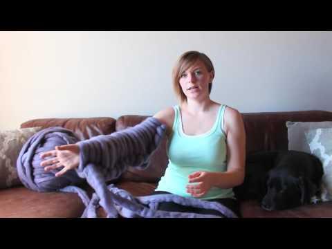 DIY Arm Knitting Blanket