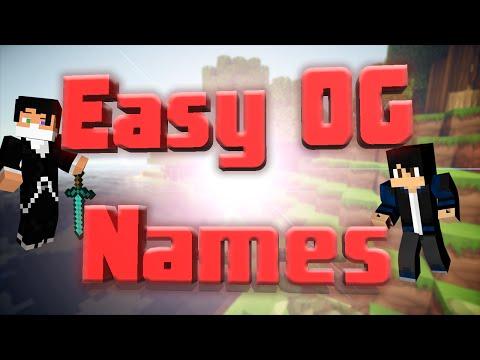 cool og names for minecraft