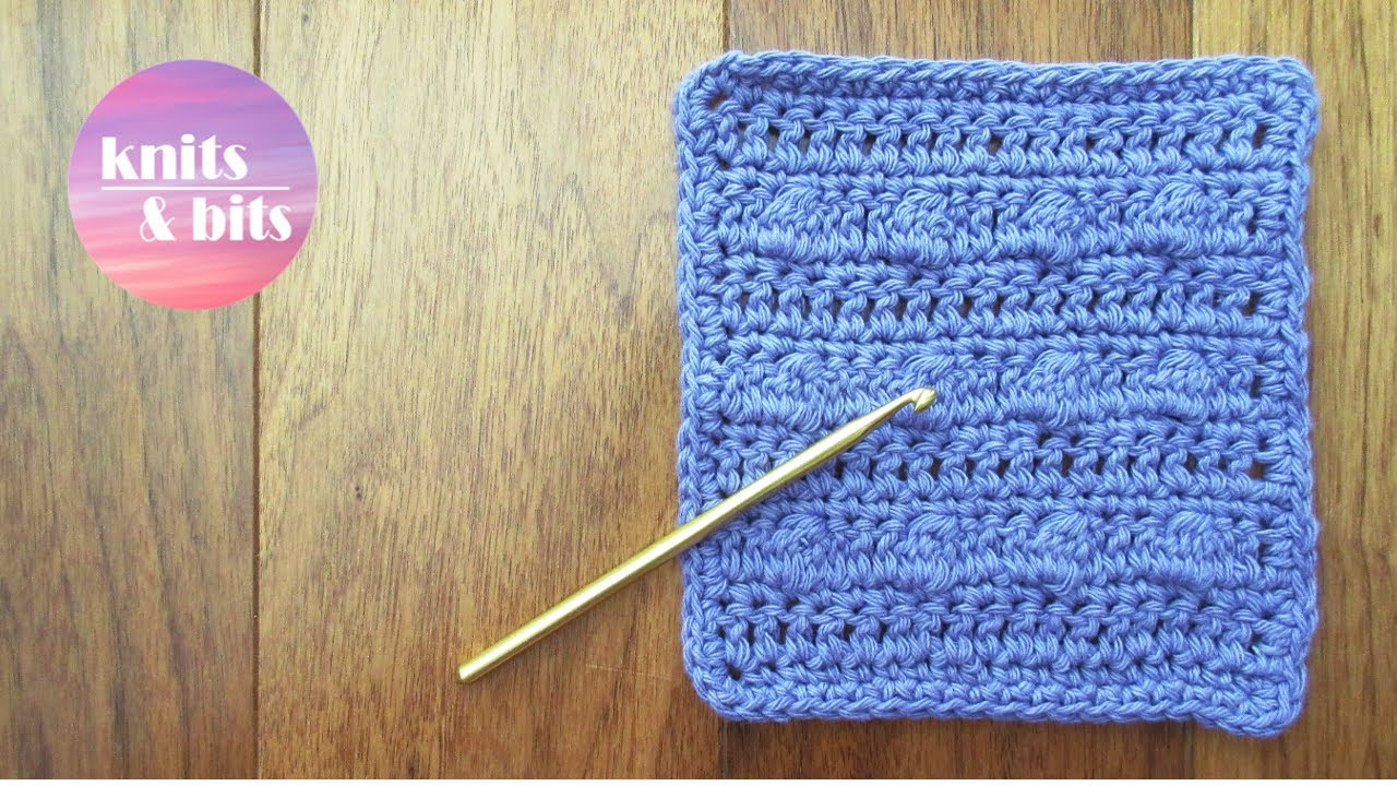 Bobble Stitch Dishcloth/Facecloth! Easy Crochet Tutorial - YouTube