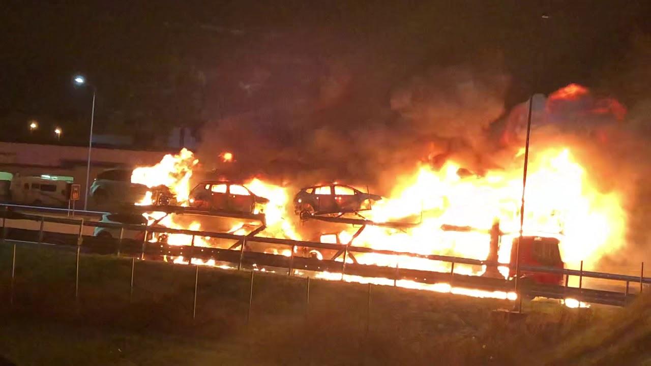 Incendio camion Ancona sud - YouTube