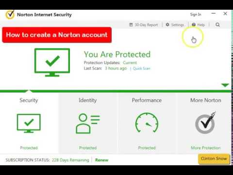 How To Crete A Norton Account