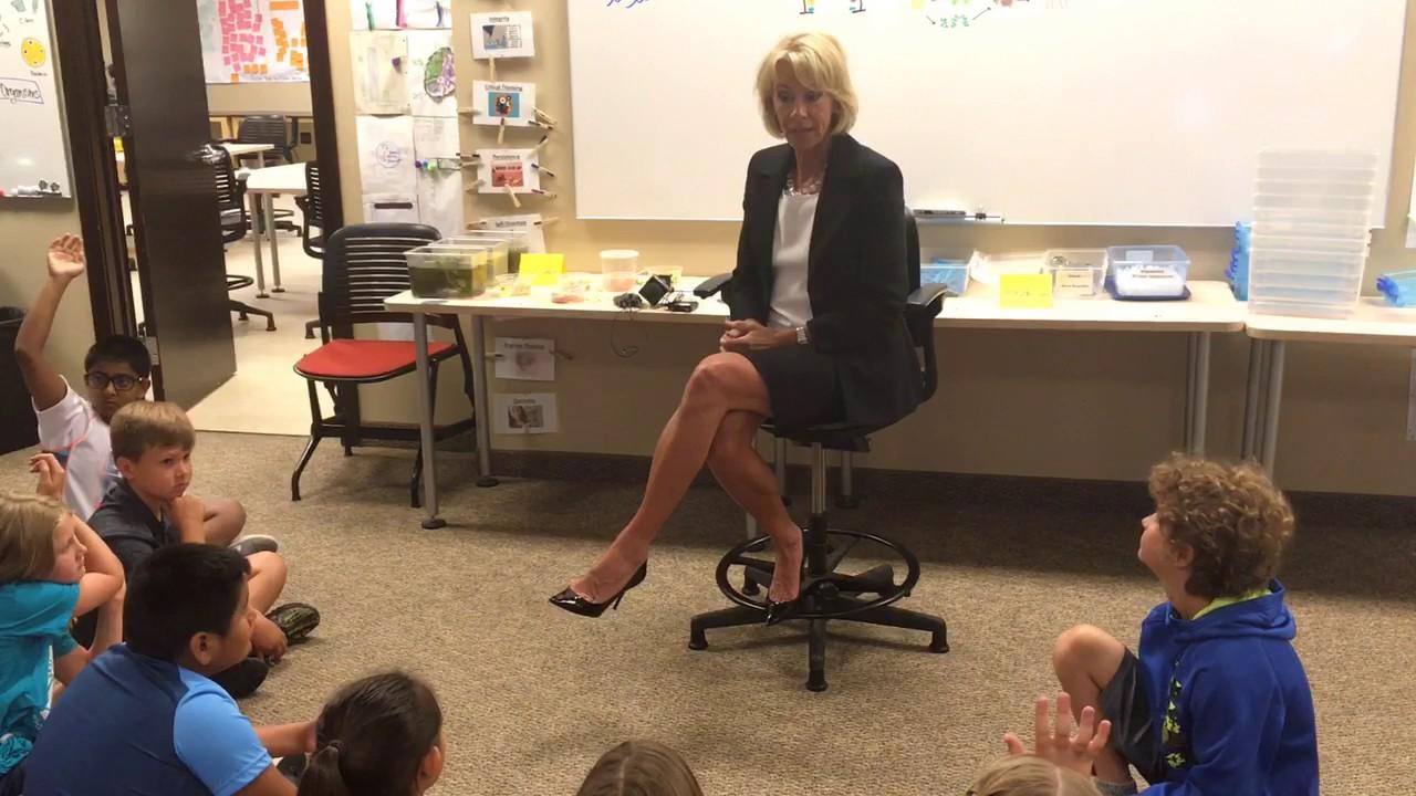 Secretary Of Education Betsy DeVos Visits Classrooms In