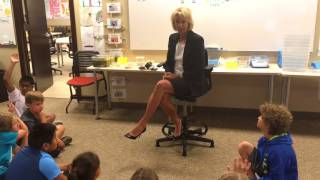 Secretary of Education Betsy DeVos visits classrooms in Grand Rapids