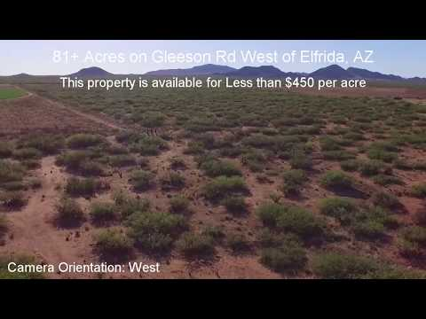 81+ Acres on paved rd with great views of Elfrida, AZ