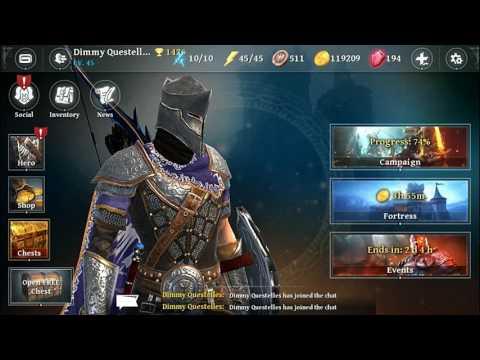 IRON BLADE  MEDIEVAL LEGENDS RPG LEGENDARY CHEST OPEN