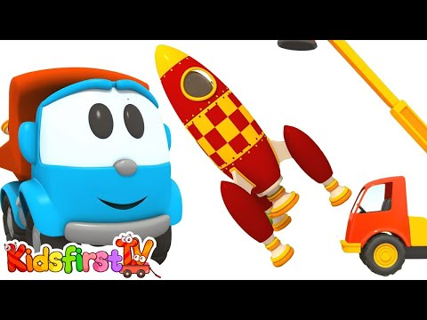 Car cartoon and animation for kids. Leo the truck and sky rocket. Kids cartoon like tutitu cartoons.