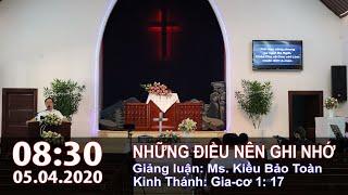 HTTL PHAN RANG - Chương trình thờ phượng Chúa - 05/04/2020 -8g30