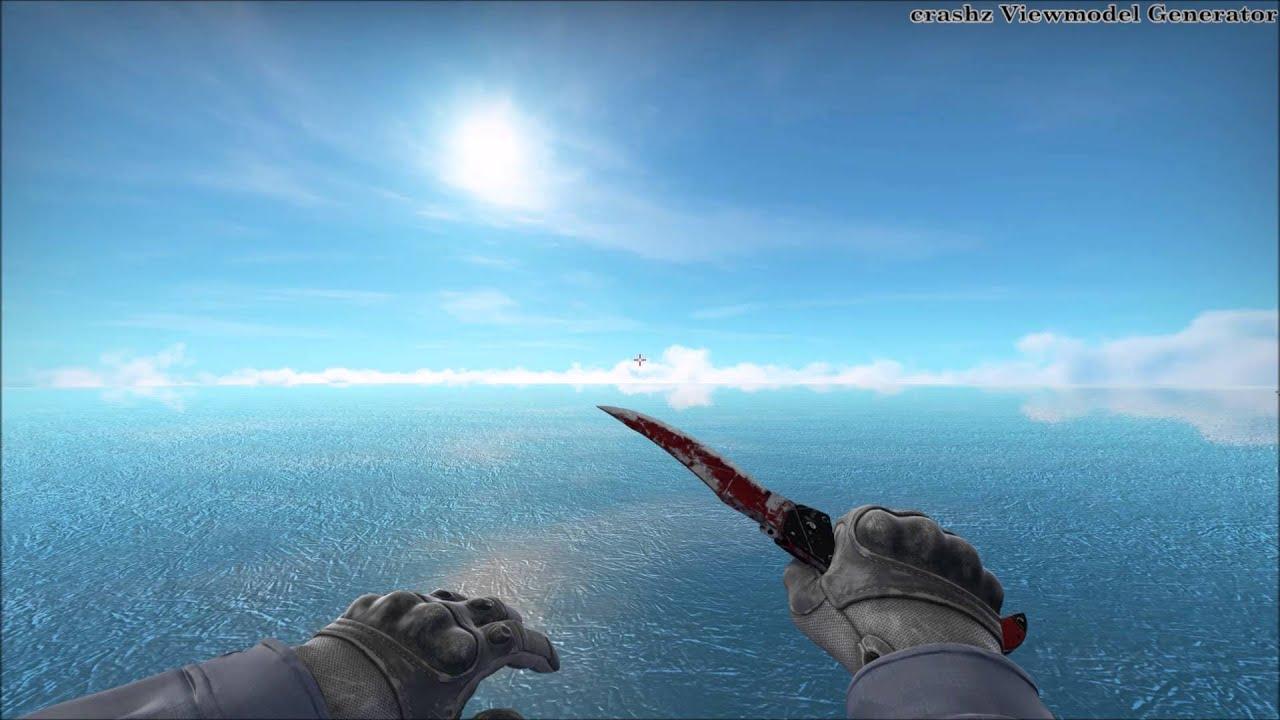 CS:GO Rare Falchion Knife Animation (Crimson Web BS)