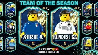 TOTS Serie A vs Bundesliga in Lego FIFA 20 Team Of The Season in Lego Football Film