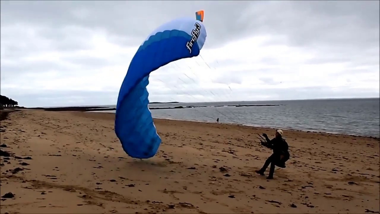 Session gonflage avec l'aile speed flying OZONE Firefly 3