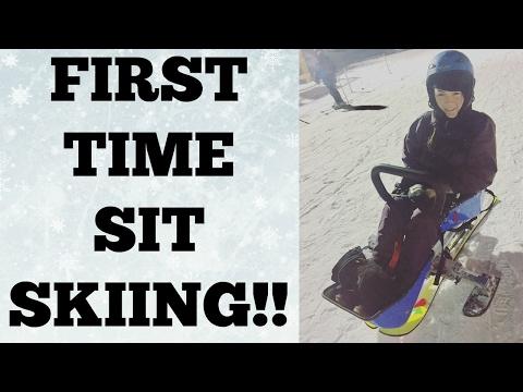 First Time Sit Skiing - C6/C7 QUADRIPLEGIC