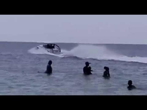 motorcar rides on Indian ocean at Mombasa Kenya