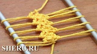 Hairpin Lace Crochet Patterns Урок 9 Лента на вилке
