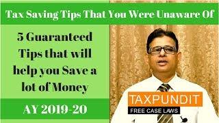 Save Income Tax | 5 Tax Saving Tips [2019] | Deduction u/s 80E, 80EE, 80GG, 80C & 80DDB | Taxpundit