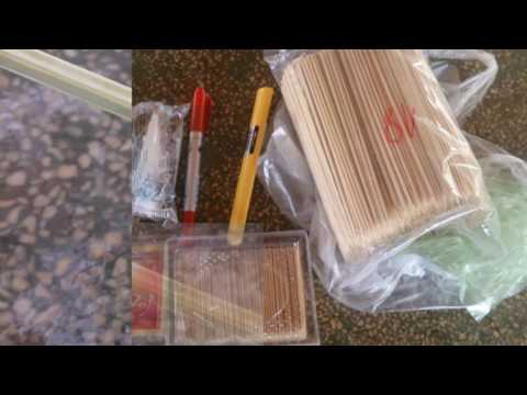 Cách làm cây dừa bằng tăm tre đơn giản