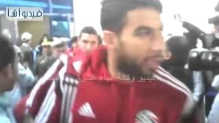 بالفيديو : بالرقص والزمر محافظ أسوان والجماهير يستقبلون منتخبا مصر والأردن لدى وصولهم  أسوان