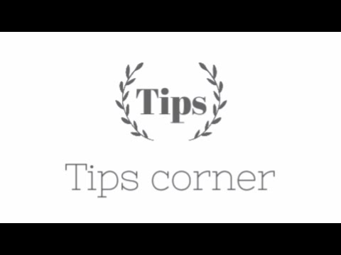 Tips Corner Intro Video Of Our New Channel