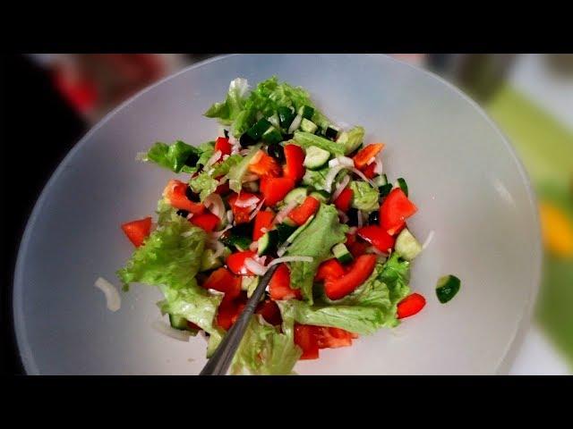 Пиганямки. Вкуснейший салат и запечённая форель с фасолью на кокосовом масле