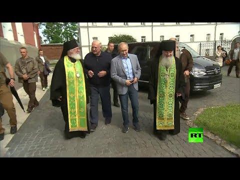 Putin y Lukashenko visitaron el Monasterio de Valaam