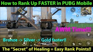 How to Gain Rank FASTER in PUBG Mobile - Gain More Ranking Points with this Tip / Trick!!!