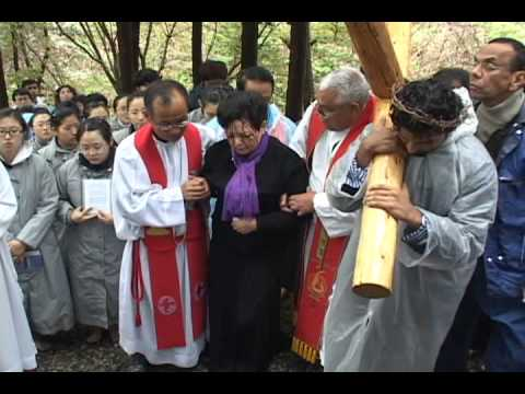 Julia Kim suffered crucifixion on Good Friday 2011Naju Korea
