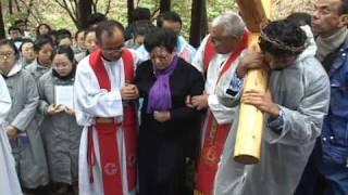 Julia Kim suffered crucifixion on Good Friday 2011-Naju Korea