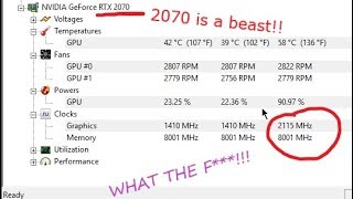 what does it feel like to overclock the RTX 2070 to 2085-2100 Mhz in Far Cry 5 Benchmark.