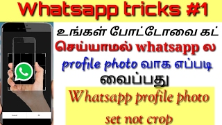 How to set whatsapp profile photo without crop | Tamil Abbasi | tamil tech