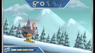 мультик игра щенячий патруль, щенята на сноуборде  поможем пингвинам просто улет смотреть детям