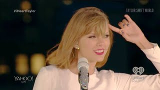 Taylor Swift - Out Of The Woods (live at 1989 Secret Session with iHeartRadio 2014-10-27)