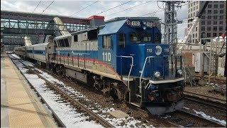 Metro North & Amtrak Trains at Stamford Station!