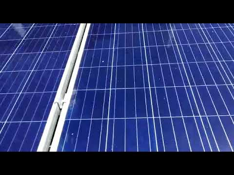 Automatic solar panel cleaning system(JRE)