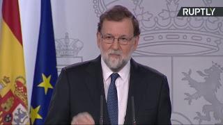 Пресс-конференция по итогам экстренного заседания правительства Испании по ситуации в Каталонии