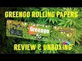 GREENGO KING SIZE SLIM ROLLING PAPER REVIEW & UNBOXING #FULLMELTFUSION