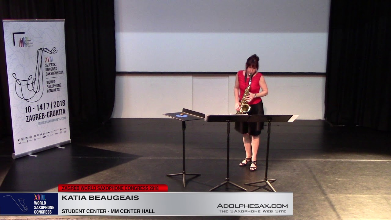 Multisonics by Katy Abbott   Katia Beaugeais   XVIII World Sax Congress 2018 #adolphesax
